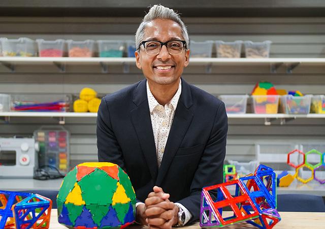 USD math professor Satyan Devadoss, PhD