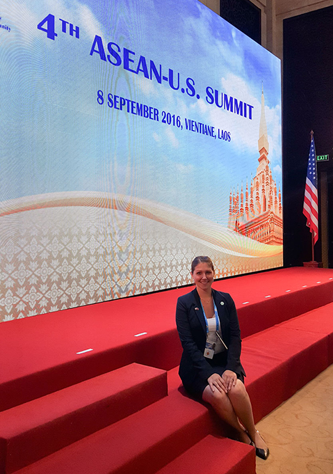 Kajsa Hendrickson at the ASEAN 2016 Summit