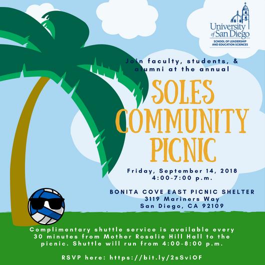 SOLES Community Picnic Invitation