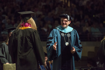 President Harris at Commencement