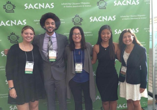 Jennifer Prairie with students at SACNAS Conference