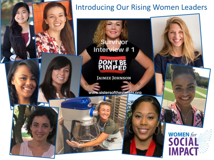The 10 Rising Women Leaders who are now members of the Kroc School's Women for Social Impact.
