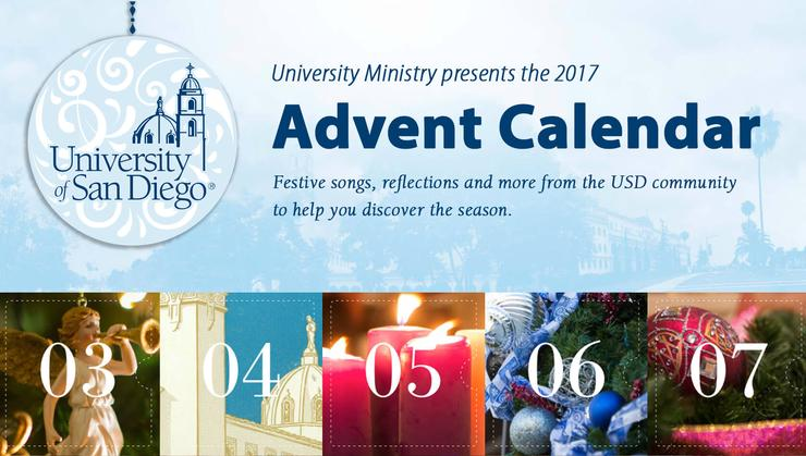 University Ministry presents the 2017 Advent Calendar