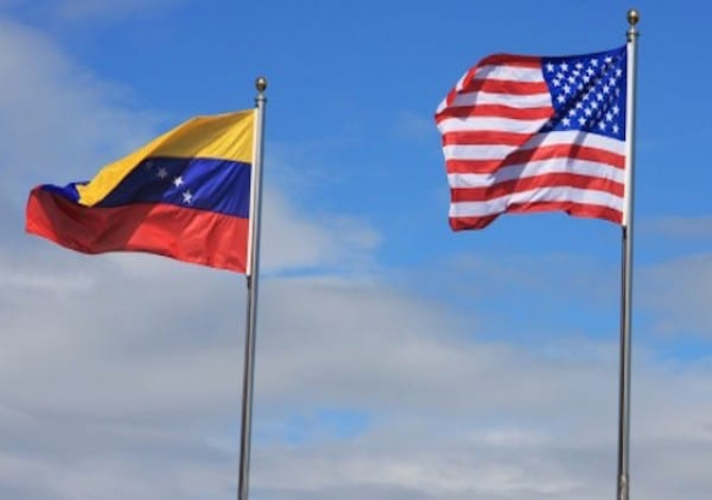 Venezuela and American Flags