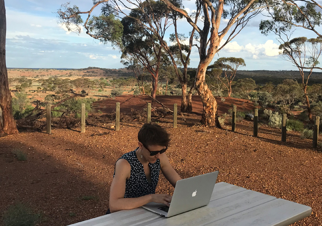 Ange Leech. Interning Remotely from Coolgardie, Western Australia.