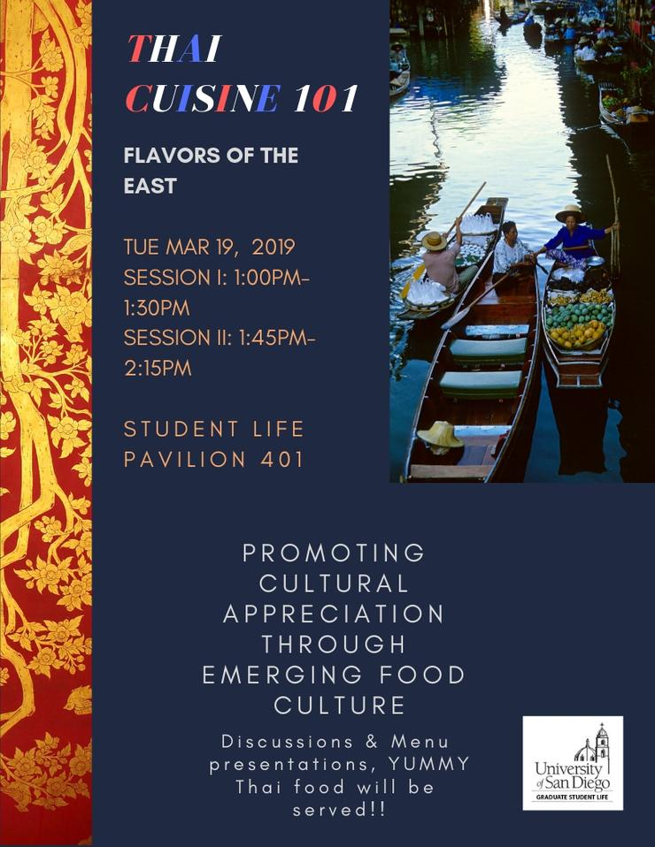 Flyer for Thai Cuisine 101