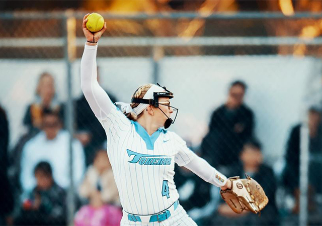 Delaney Heller has been a solid pitcher for the USD softball team this season. She had four wins in the team's six games this past weekend.