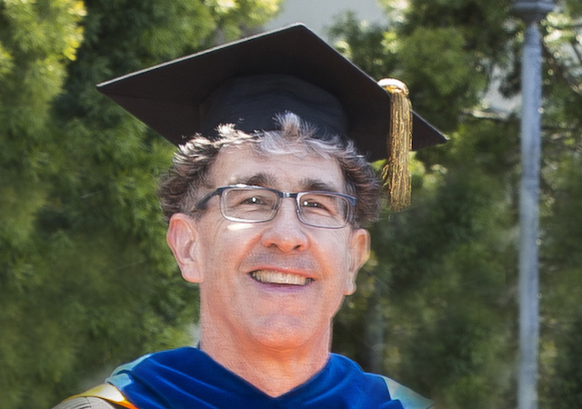 John Glick at commencement ceremony