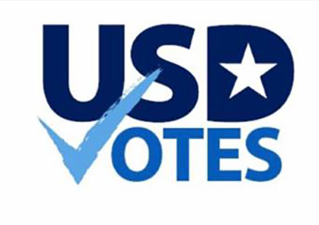 USD Votes, which is led by Professor of Political Science Casey Dominguez, PhD, is designed to help the USD community with voter registration information and election education events.