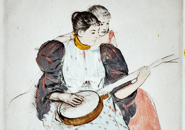 Print by Mary Cassatt