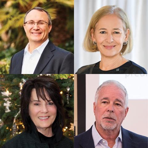 USD trustees Jon Balousek, Sue Cunningham, Virginia Nelson and Alan Schulman
