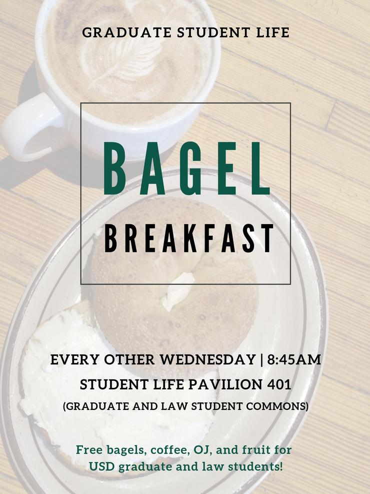 GSL Bagel Breakfast every other Wednesday