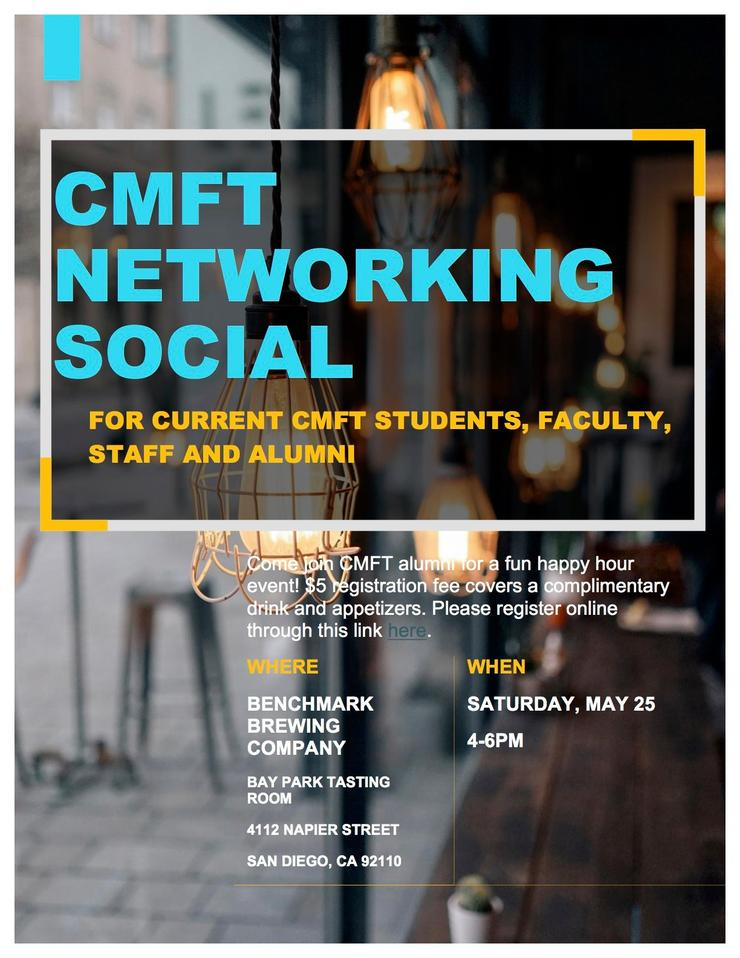 CMFT Alumni Happy Hour Flyer