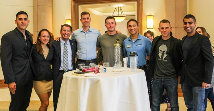 The USD HERO Club and its advisor, Derek Abbey (third from left), were among those honored at the annual USD Student Organization Awards on April 25.
