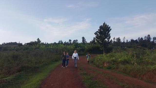 Sunset walk in Rwanda