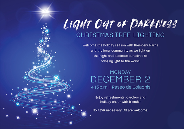 Light out of Darkness Christmas Tree Lighting Event