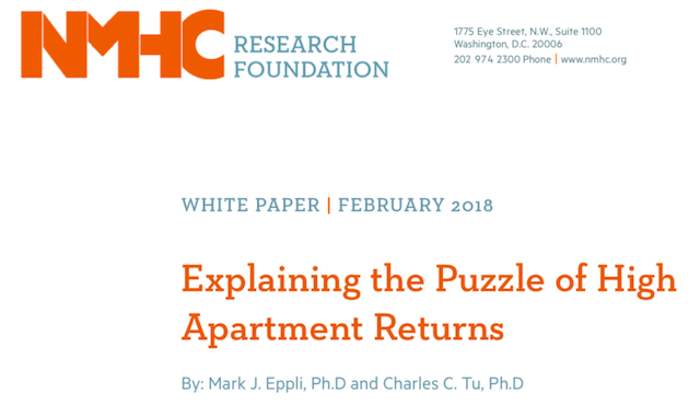 New Research Study Looking at High Apartment Returns
