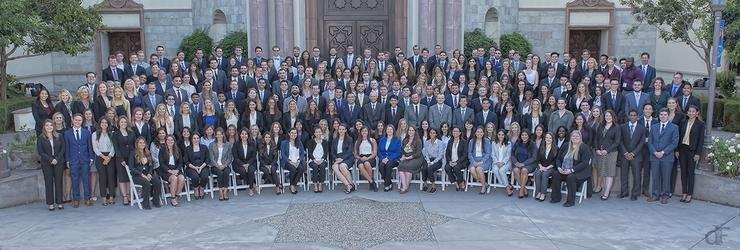 The School of Law's 2018 JD Orientation took place the week of Aug. 13-16 on campus. These students comprise the Class of 2021.