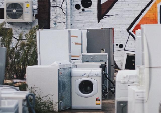 washing machine at dump
