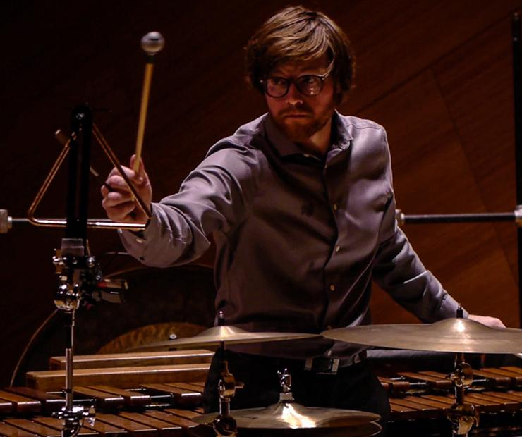 Percussionist Ryan Nestor Performing