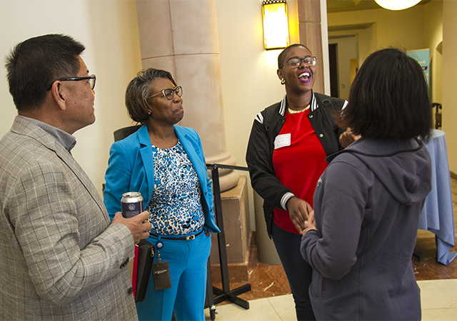 Copley Library Dean Theresa Byrd and DIS 2019 attendees