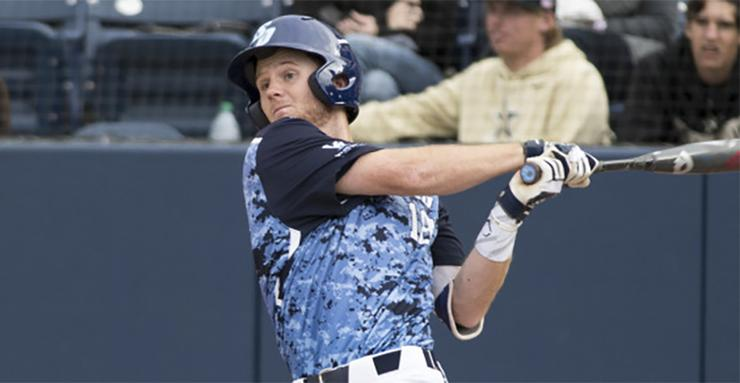 Jay Schuyler hit two home runs to help the USD baseball team defeat Cincinnati, 4-3 and earn a weekend split in four total games with Cal and Cincinnati.