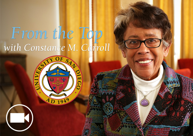 Constance M. Carroll is the current SD Community College District Chancellor but is also a USD Trustee.