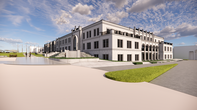 Rendering of future Knauss Center for Business Education