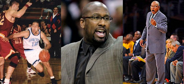 From left to right, the USD men's basketball program has a strong pipeline to the NBA with David Fizdale, Mike Brown and Bernie Bickerstaff among its alumni. All are or have been NBA head coaches.