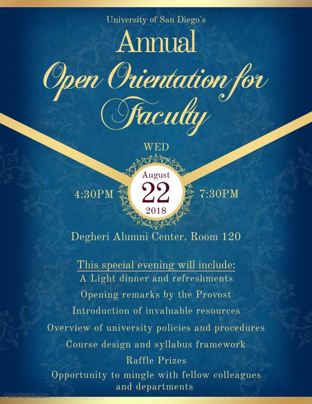 Annual Open Orientation for Faculty