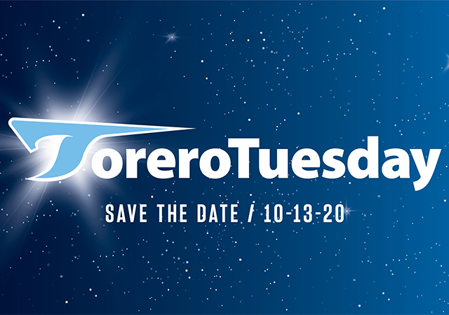 Save the date for Torero Tuesday, October 13, 2020