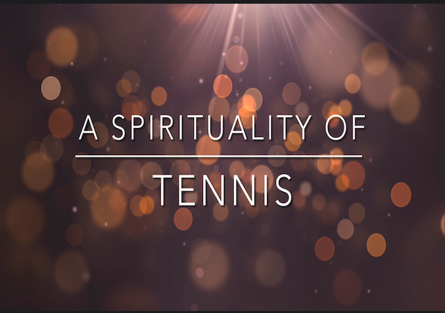 "Logo with ""Spirituality of Tennis"" text"