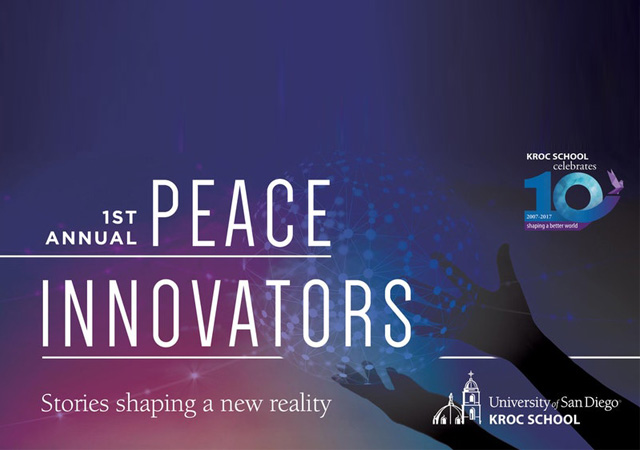 First annual Peace Innovators. Stories shaping a new reality.