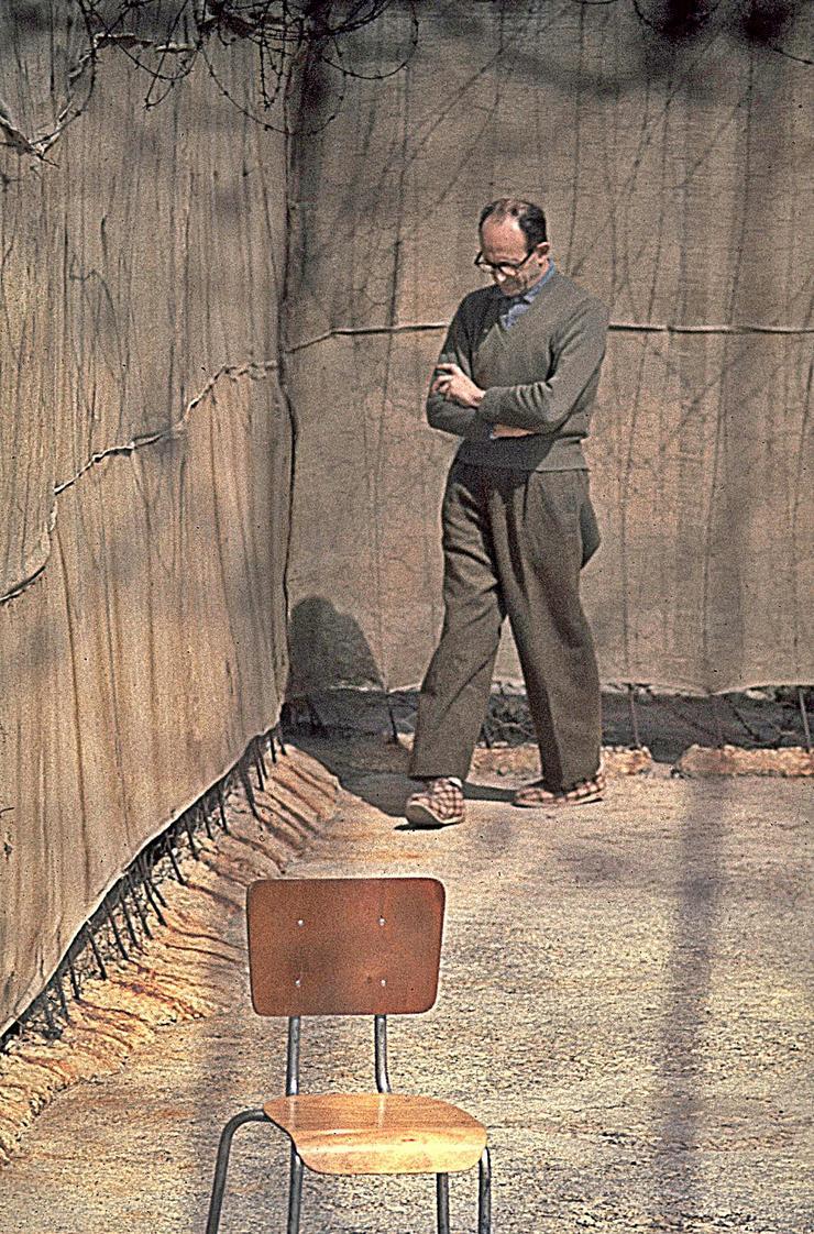 Adolf Eichmann, imprisioned Nazi party leader, Ramla Prison, Israel, 1961.