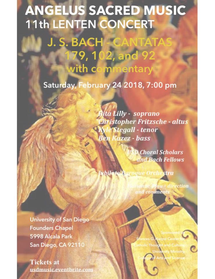 Angelus Sacred Music Series: Bach Cantatas with Commentary