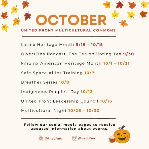 UFMC October events