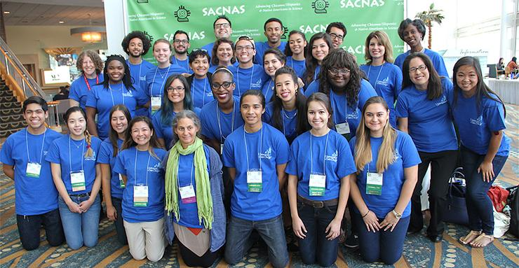 The University of San Diego had 25 students, including 10 research presenters, and faculty and staff who attended the Oct. 13-15 SACNAS National Diversity in STEM Conference in Long Beach, Calif.
