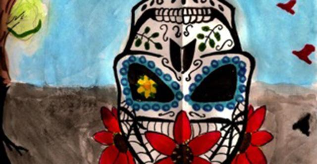 day of the dead graphic by harlin brown