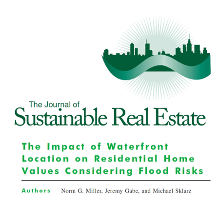 Image is of the Journal of Sustainable Real Estate Logo