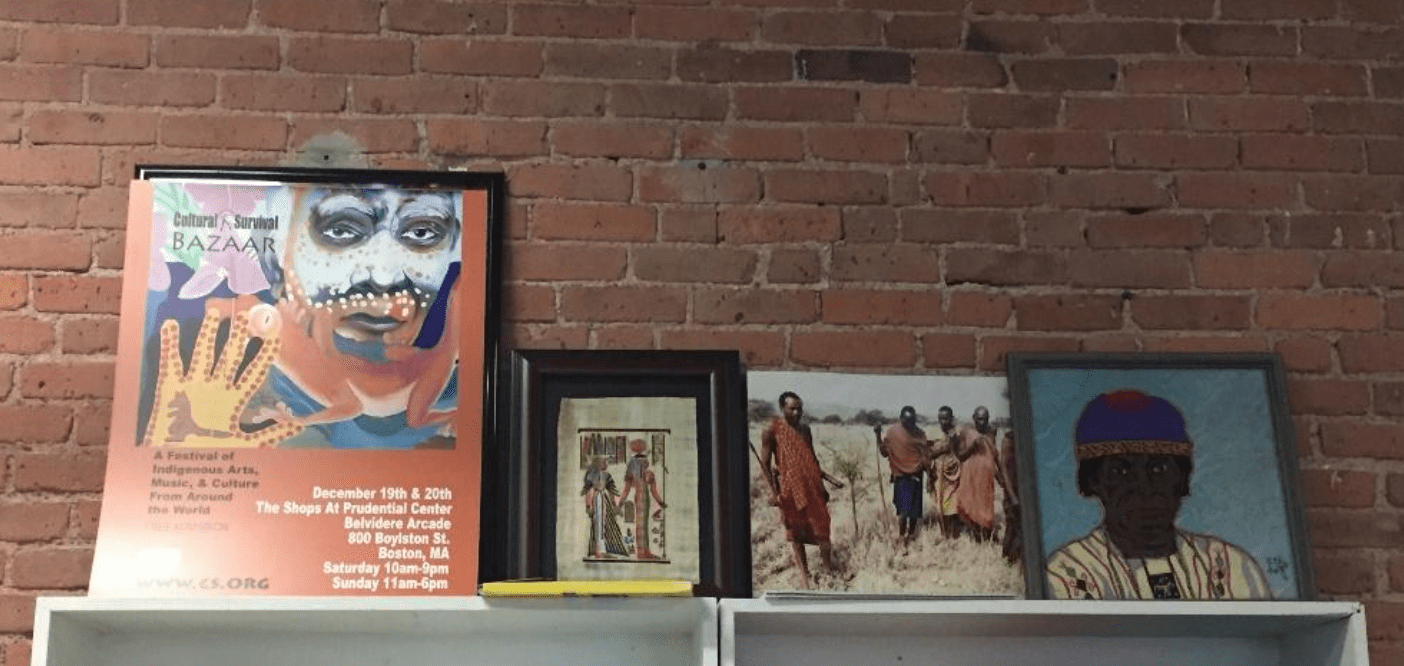 Artwork inside the office of Cultural Survival