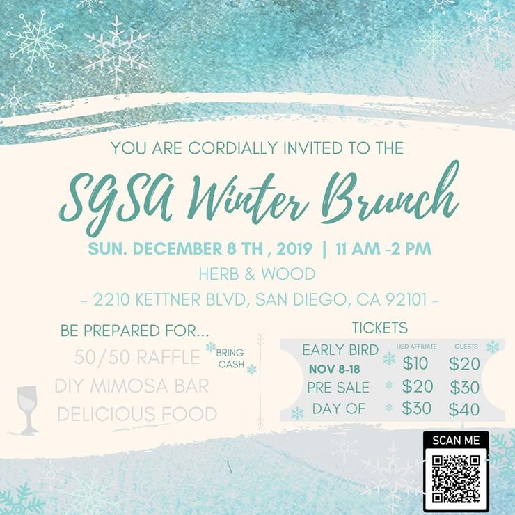 Join the SOLES Graduate Student Association (SGSA) for our 2019 Holiday Brunch on Sunday, December 8th, 2019 from 11AM - 2PM at Herb & Wood in Little Italy