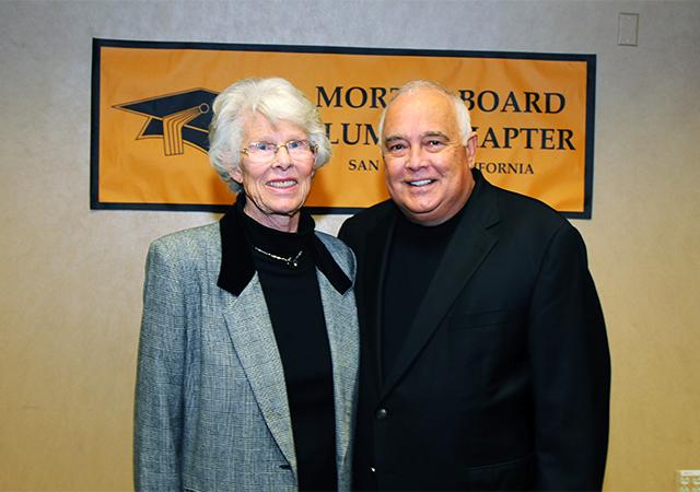 Mortar Board Alumni Honorees Iris Engstrand, Ron Fowler