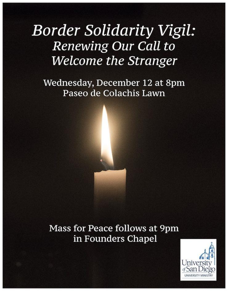 Border Solidarity Vigil flier