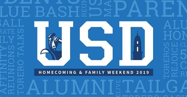 The annual USD Homecoming and Family Weekend takes place on campus this Thursday, Oct. 3 through Sunday, Oct. 6. Online registration concludes at 9 p.m. on Oct. 1.