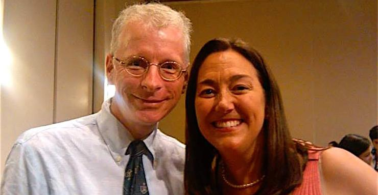 Sociology Professor, Thomas E. Reifer, and Erin Gruwell, the Freedom Writers high school teacher. Dr. Reifer recently participated in a Freedom Writers Teachers Institute program.