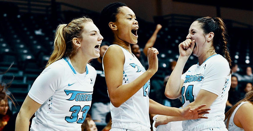 The USD women's basketball team has plenty to celebrate. The team is seeded No. 2 in the WCC Tournament and earned a triple bye, meaning it won't play until March 9.