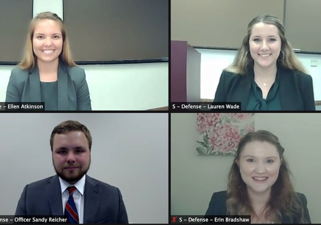 USD School of Law National Trial Team on Zoom