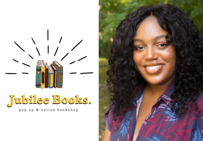 Jubilee Books. Pop up & online bookshop. Photo of Chelsea McLin.