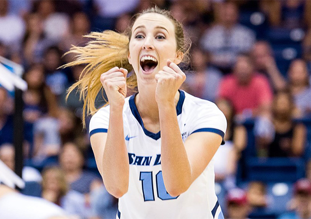 Cami May, USD volleyball