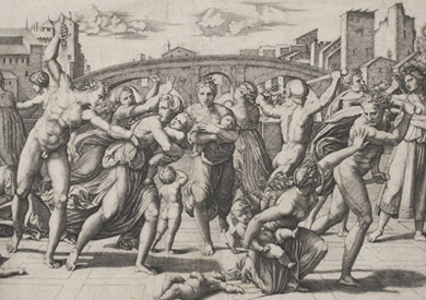 Marcantonio Raimondi Massacre of the Innocents (after Raphael), 1510